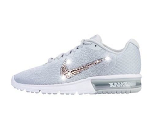 Nike Air max sequent 2 womens, Bling Nikes for women, Bling Nike, Nike Bling shoe, Glitter Nikes for women, Rhinestone Nike, Swarovski Nike shoes, Air max sneakers by AllureDesignz