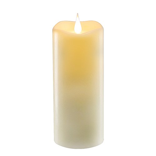 lvl 7Inch Flameless Candles-Real Wax & Flickering Candle-Unscented, Ivory