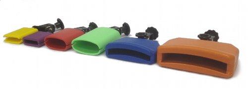 CLAVE BLOCKS 6 PIECE SET - PERCUSSION AUX DRUMS Plastic Cowbells ALL COLORS NEW