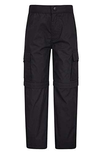 Mountain Warehouse Active Kids Convertible Trousers - Hiking Pants Black 13 - Clothes Black Mountain