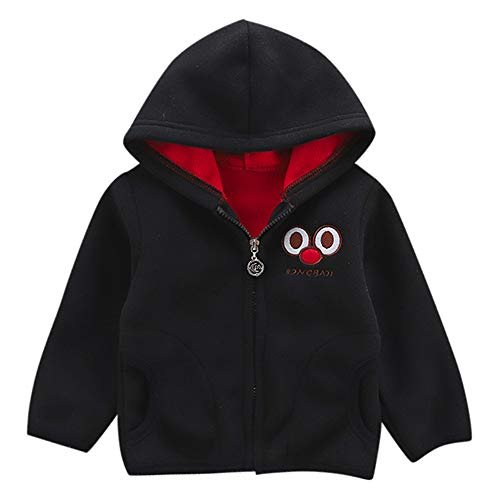 XoiuSyi,Toddler Baby Boy Girl Cartoon Long Sleeve Hoodie Fleece Winter Warm Clothes Coat,Organic Cotton -