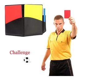 Ecovers Tarjeta roja del árbitro del fútbol tarjeta amarilla ...