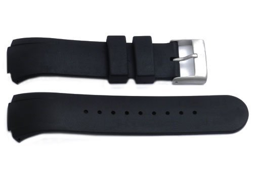 Genuine Synthetic Rubber Black Regular 26mm by 14mm Watch Strap by Swiss Army