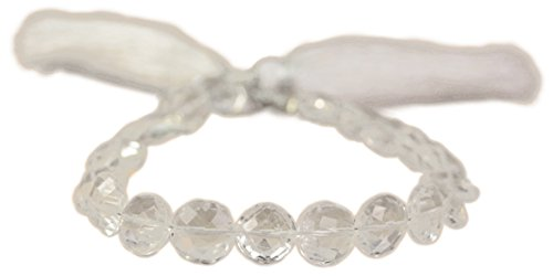 Beads of Cambay 20-Piece Crystal Quartz Faceted Coin Beads, 8-Inch (Quartz Faceted Coin)