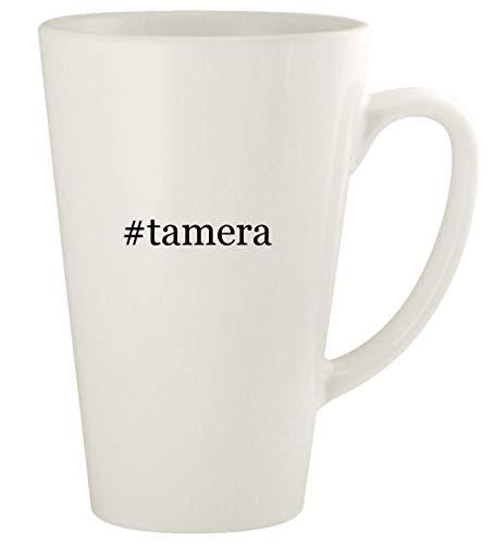#tamera - 17oz Hashtag Ceramic Latte Coffee Mug Cup, White
