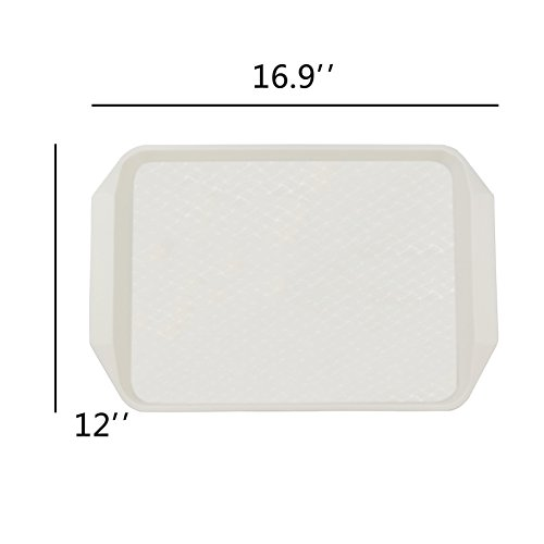 Eagrye Fast Food Serving Trays, Rectangle 16.9