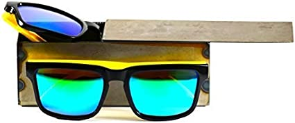 80/'s Vintage Retro Yellow Sunglasses with Yellow Mirror Lens