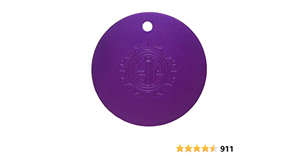 Nikola Tesla Placas de energía púrpura - pequeño colgante redondo 1.5