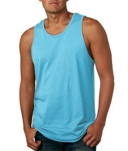 Next Level Mens Premium Jersey Tank (3633) -TAHITI BLU -XL