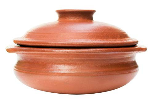 """Craftsman India Online """"Perfection of Pottery Collection"""" Earthen Clay Cookware Pot with Lid for Cooking and Serving (2.5 L, Red) Price & Reviews"""