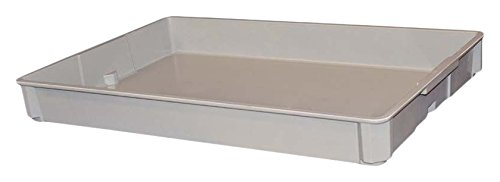 MFG Tray 8961085136 Stacking Container, Glass Fiber Reinforce Plastic Composite, 250 lb. Capacity, Gray, 30.5'' x 20.5'' x 3.5'' by MFG Tray