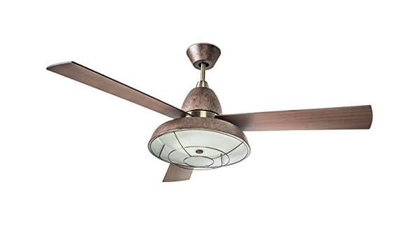 Leds-c4 vintage - Luminaria ventilador vintage 2xe27 60w oxido ...