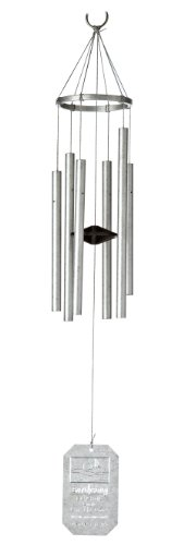 Earth Song Wind Chimes - Grace Note Chimes 1LGN Earthsong Wind Chimes, 24-Inch, Silver