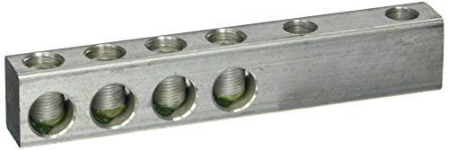 Dual Aluminum Duct - 8 Port Aluminum Dual Rated Transformer Connector 350 MCM - 6 AWG - 1 Count