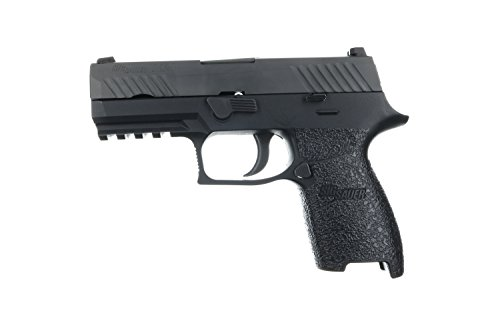 TALON Grips Rear Wrap Grip for Sig Sauer P250/P320 Compact Rubber, Black Rubber Fits Medium (Grip Sig)