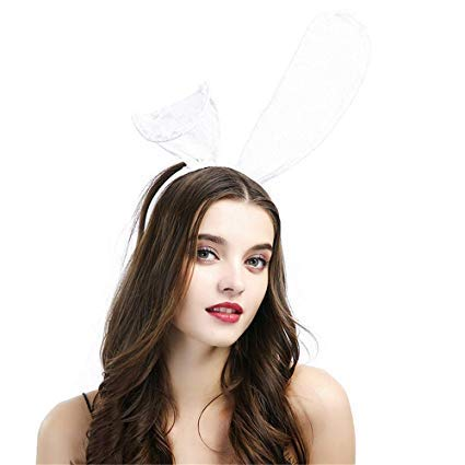 Funny Party Hats Bunny Ears and Accessories Sexy Bunny Headband for Wedding Party Cosplay Costume Accessory Halloween Christmas Easter Party Costume -