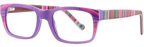 1bcd96aede74 Amazon.com  Rectangular Womens Frame Thick Plastic Prescription Glasses  Spring Hinges Purple  Clothing