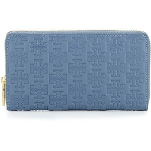 Tory Burch Women's Embossed T Zip Continental Wallet, Comet, One Size by Tory Burch