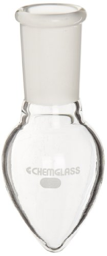 Chemglass CG-1554-01 Glass 50mL Pear Shaped Heavy Wall Flask, with 24/40 Standard Taper Outer Joint (Uses Of Pear Shaped Flask In Laboratory)