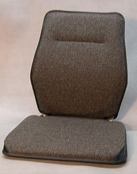 Sacro Ease - BRSCMCF-Gry - Deluxe Memory Foam Car Seat Back Support Cushion - Grey - Width - 15 in.
