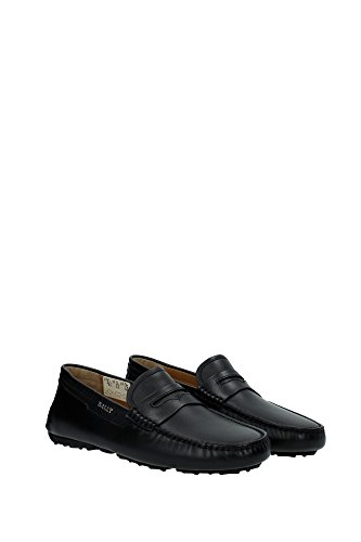 UK Black Bally Loafers Men 6198432BLACK tUgOq