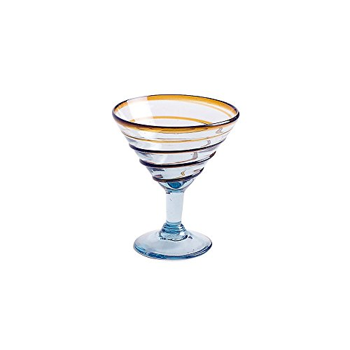 Orion Trading G4667-AW 12 Oz. Amber Spiral Margarita Glass - 12 / CS by Orion Trading & Design
