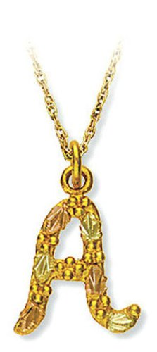 Landstroms 10k Black Hills Gold Initial Necklace