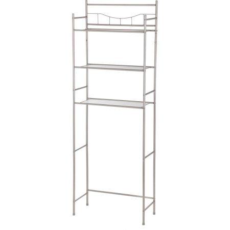 (Mainstays 3-Shelf Bathroom Space Saver, Oil Rubbed Bronze (Satin Nickel) (Satin Nickel))