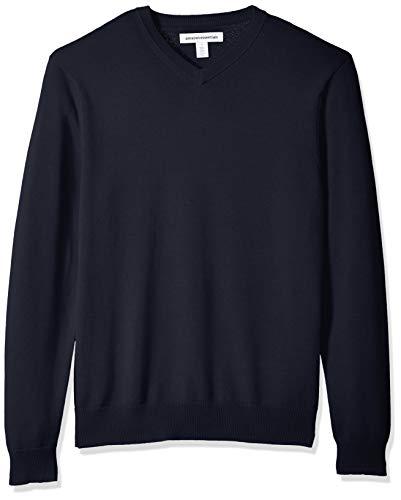 Amazon Essentials Men's V-Neck Sweater, Navy, Medium