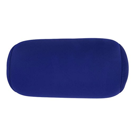 (2022 35x17CM Micro Mini Microbead Pillow Roll Neck Pillow Column Pillows for Travel Pillow Deep Blue)