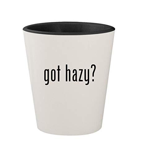 got hazy? - Ceramic White Outer & Black Inner 1.5oz Shot Glass