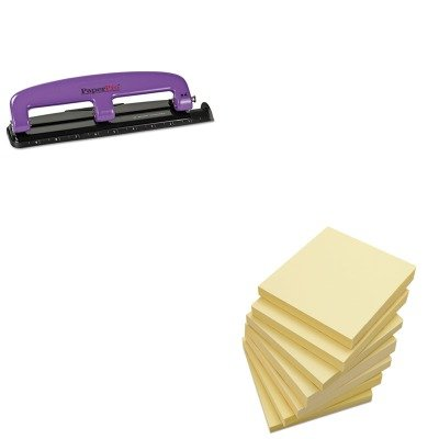 KITACI2105UNV35668 - Value Kit - Paperpro 12-Sheet Capacity Compact Three-Hole Punch (ACI2105) and Universal Standard Self-Stick Notes (UNV35668) by PaperPro