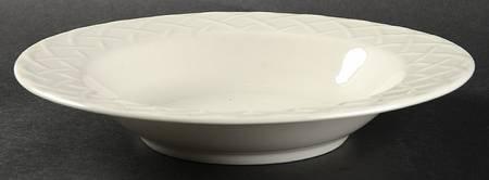 Oneida Picnic Pattern Fine China Large Rim Soup (Fine China Rimmed Soup Bowl)