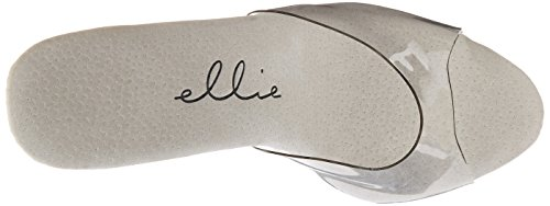 Ellie Shoes E-709-Vanity 7 Pointed Stiletto Mule. Clear