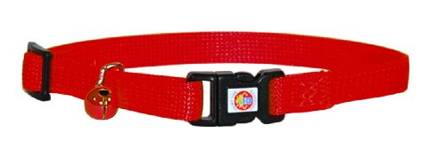 "Hamilton Adjustable Break-A-Way Safety Cat Collar, Red, 3/8"" Wide"