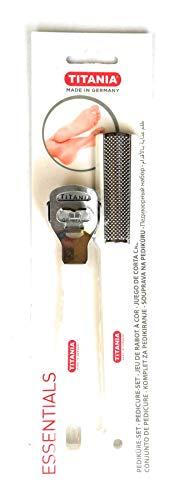 (Titania Corn Slicer & Callous Remover Set Chrome-Plated with Ergonomic)