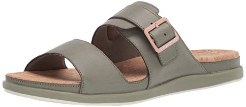CLARKS Women's Step June Tide Sandal Dusty Olive Synthetic 065 M US (Synthetic Sandals For Women)