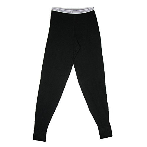 Hanes Women's Thermal Pants, XL, Black