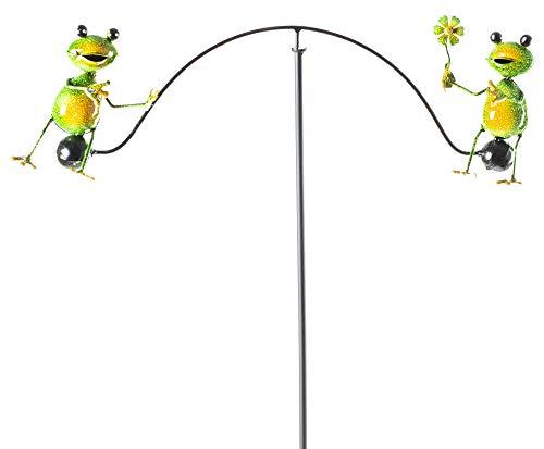 OSW Balancing Frog Metal Yard Art Sculpture Wind Balancer (Metal Frog Art)