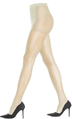 Lupo Loba Womens Classic Sheer Pantyhose 15 Denier, Large (Pantyhose Champagne)
