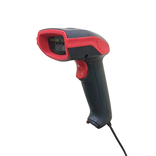 Barcode Scanner, TEROW 1D Wired Red Light Scanner USB Handheld/Continuous Scanning CCD Barcode Reader for Paying Cashier, Barcode Collection by TEROW