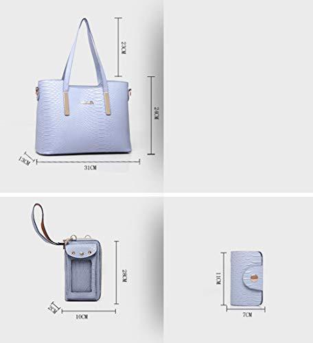 Bolso De Hombro Del Patrón Del Cocodrilo De La Moda De Las Mujeres, Bolso Crossbody 3 Sistemas: Amazon.es: Ropa y accesorios