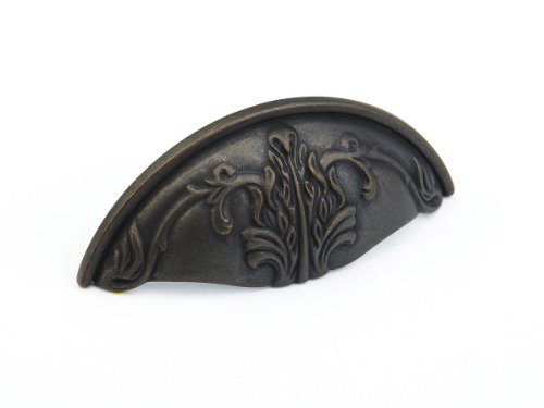 Schaub Corinthian Collection 3 in. (76mm) Cup Pull, Ancient Bronze - (Ancient Bronze Cup Pull)