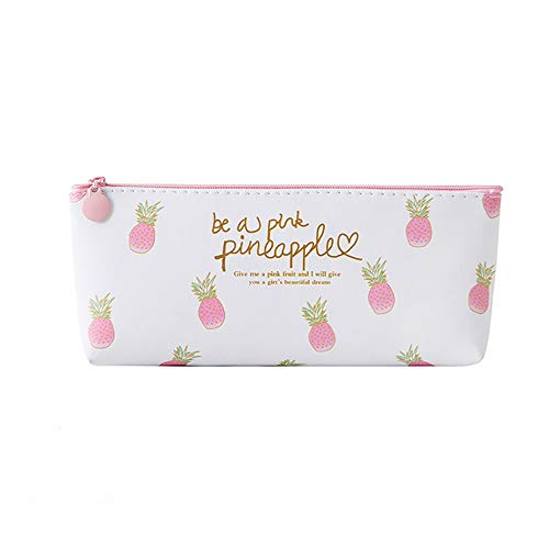 Clearance Sale!DEESEE(TM)Pink Pineapple Pencil Case Cosmetic Bag Makeup Pouch Pencils Box (D) (Night Owl Camera Pen)