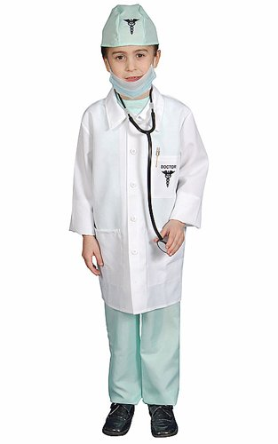 [Deluxe Doctor Toddler Costume, Toddler 2 (1-2)] (Doctor Costumes For Toddlers)