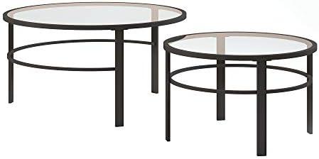 Henn Hart Coffee Table, One Size, Blackened Bronze