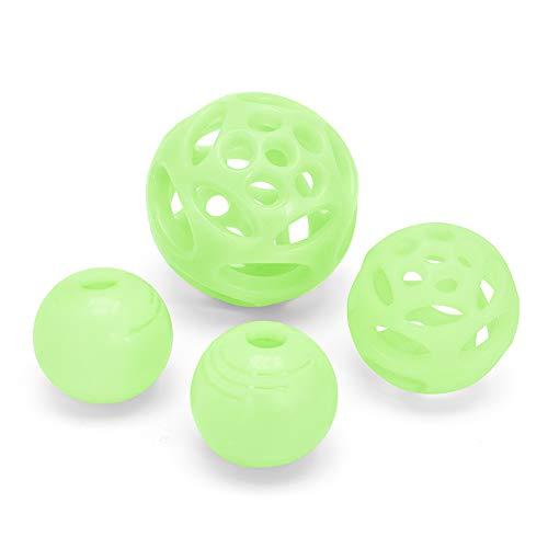 Chew King Ball, 4 Piece Glowing Fetch Ball, Dog Ball Toys, Fits Ball ()