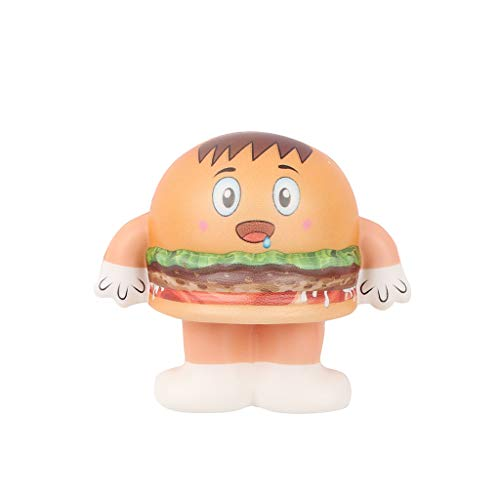 Gbell  Bell Stress Squeeze Toy for Adults,Mini Adorable Hamburger Doll Reliever Anxiety Toy Super Soft Slow Rising Decompression Toy Squishies Squeezable Decompression -