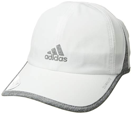 adidas Women's Superlite Relaxed Performance Cap, White/Light Heather Gray, One Size – DiZiSports Store