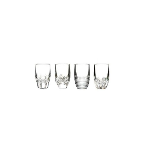 Waterford Mixology Shot Glasses - Clear, Set of 4 by Waterford